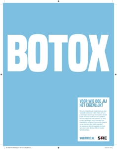Botox, wees de rimpel voor!